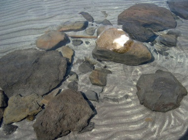 Waldo stones in water