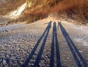 16 Juneau glacier shadows