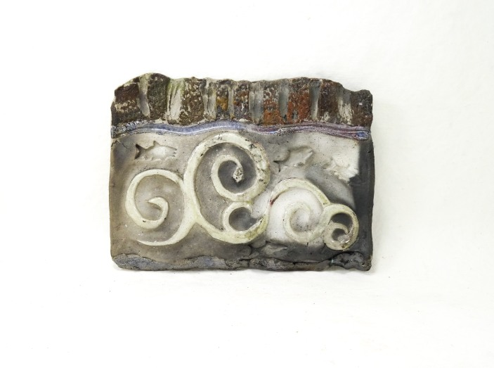 jumping salmon tile raku
