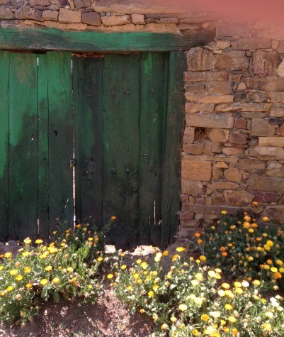 Old Green camino door